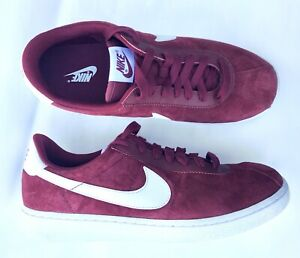 huge selection of b18ce 01da1 Image is loading NEW-Nike-Bruin-QS-Deep-Red-White-Suede-