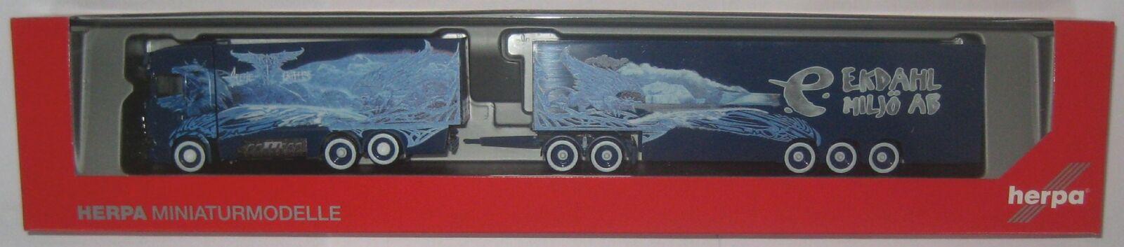 Herpa 309844 SCANIA CS 20 HD eurocombi Ekdahl Arctic Griffin (S) 1 87 voie HO