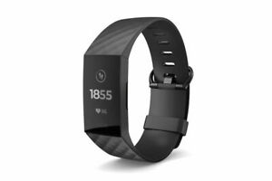 Fitbit Charge 3 Advanced Fitness Tracker, Large - Black/Graphite