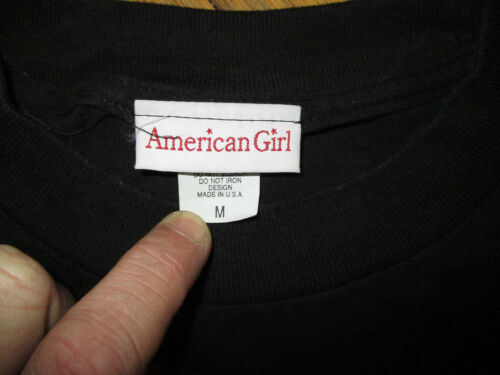AMERICAN GIRL PLACE T SHIRT Chicago Doll Shop Toy Store Embroidered Black Tee MD