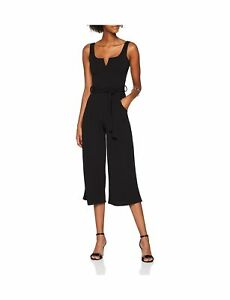 e6bd783681b Quiz Women s Black Crepe Belted Culotte Jumpsuit 18 (Manufacturer ...