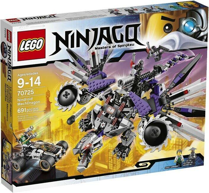 Lego Ninjago reiniciado NINDROID MECHDRAGON conjunto  70725
