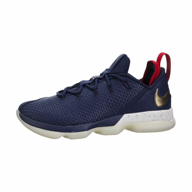 1027d012ba8 Nike Lebron XIV 14 Low USA Mens 878636-400 Navy Gold Basketball Shoes Size  10.5. +.  90.00Brand New