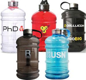 LITRE-BPA-FREE-Big-Grande-Bouteille-d-039-Eau-Sports-Gym-Entrainement-Boisson-BSN-PhD-EHP-Labs
