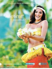 PUBLICITE ADVERTISING 125  2011  AIR TAHITI NUI   Tstuamere Benett Artiste Polyn