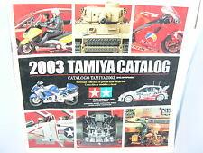 TAMIYA CATALOGO EDICION 2003 ENGLISH/SPANISH  NUEVO  107  PAGINAS