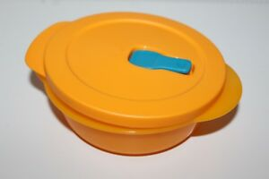 Tupperware-MicroTup-Crystal-Wave-Mikrowellengeschirr-Mikro-Fix-Neu-600-ml-orange