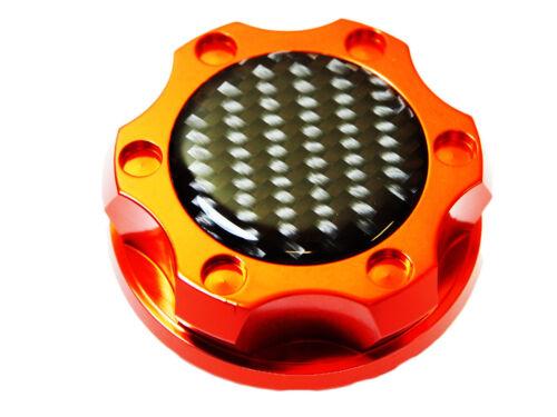 FORD 6.0L 7.3L V8 TURBO DIESEL ENGINES CARBON FIBER BILLET OIL FILLER CAP ORANGE