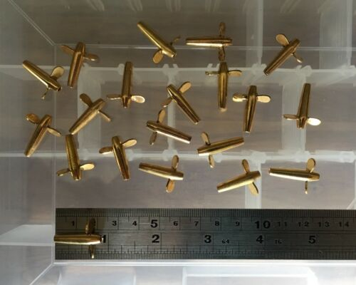 """20 BABY DEVON MINNOW GOLD BLADES 22mm 7//8/"""" NEW Spinners  SALE"""