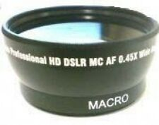 Wide Lens for JVC GY-HM100 GY-HM100U GY-HM100E GZ-HD3US