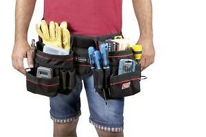 Werkzeugtasche-Guerteltasche-Werkzeugguertel-gross-aus-Nylon-mit-Hammerhalter