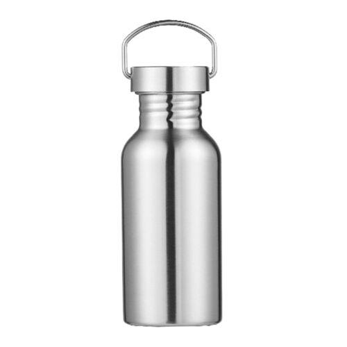 Stainless Steel Water Bottle Metal Sport /& Gym Drinks Flask for Women Men