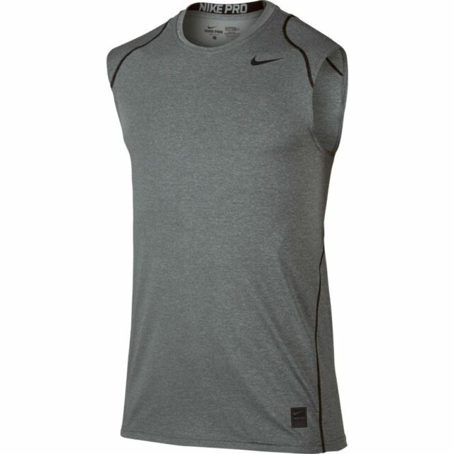 c56efeb75a615 Men s Nike Pro Cool Fitted Dri Fit Sleeveless Shirt Size XL 703102 ...