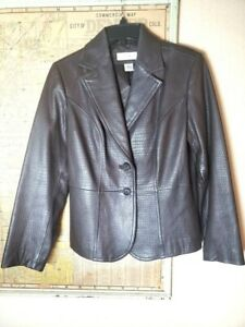 Preston-amp-York-Women-039-s-Leather-Jacket-Chocolate-Brown-Lambskin-Size-Medium