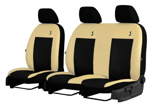 """VW CRAFTER 2006-2016 ECO LEATHER /""""ROAD/"""" SEAT COVERS MADE TO MEASURE FOR VAN"""