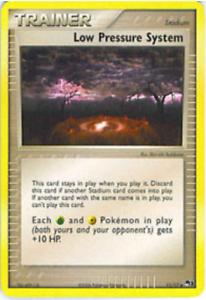 Pokemon Cards Low Pressure System Trainer POP 3 Promo Uncommon 11//17 NM