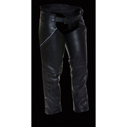 Milwaukee Leather Women/'s Hip Pocket Biker Chap w// Reflective Feature **LKL6700
