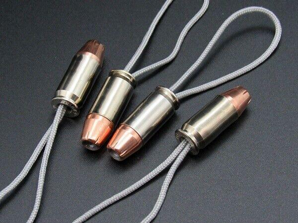 Bullet Zipper Pull, Bullet Lanyard, or Keychain 4 Pk Select Caliber at Checkout