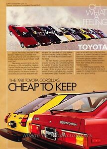 1981 Toyota Corolla and Tercel -  Original Advertisement Print Car Ad J453