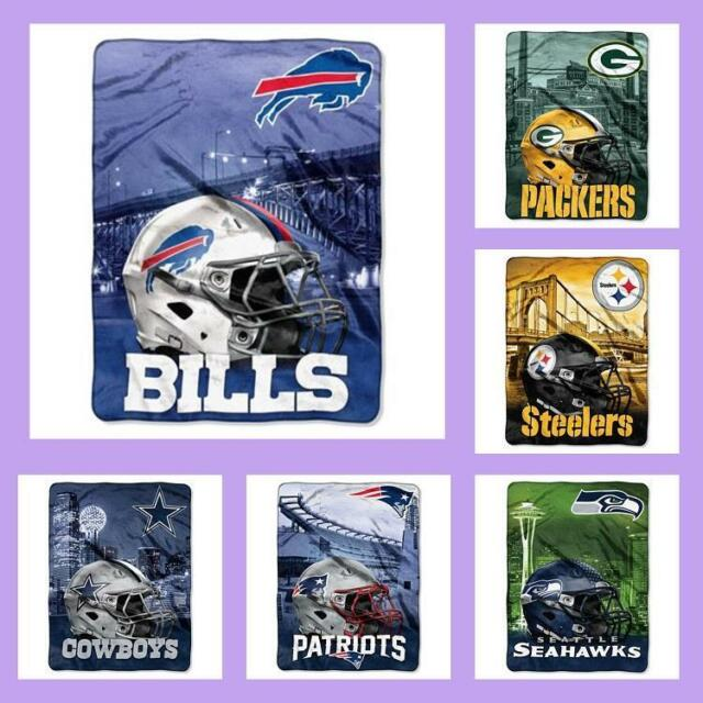 71a47c74 NFL Licensed Big Large Soft Silk Touch Afghan Throw Blanket - Choose Your  Team