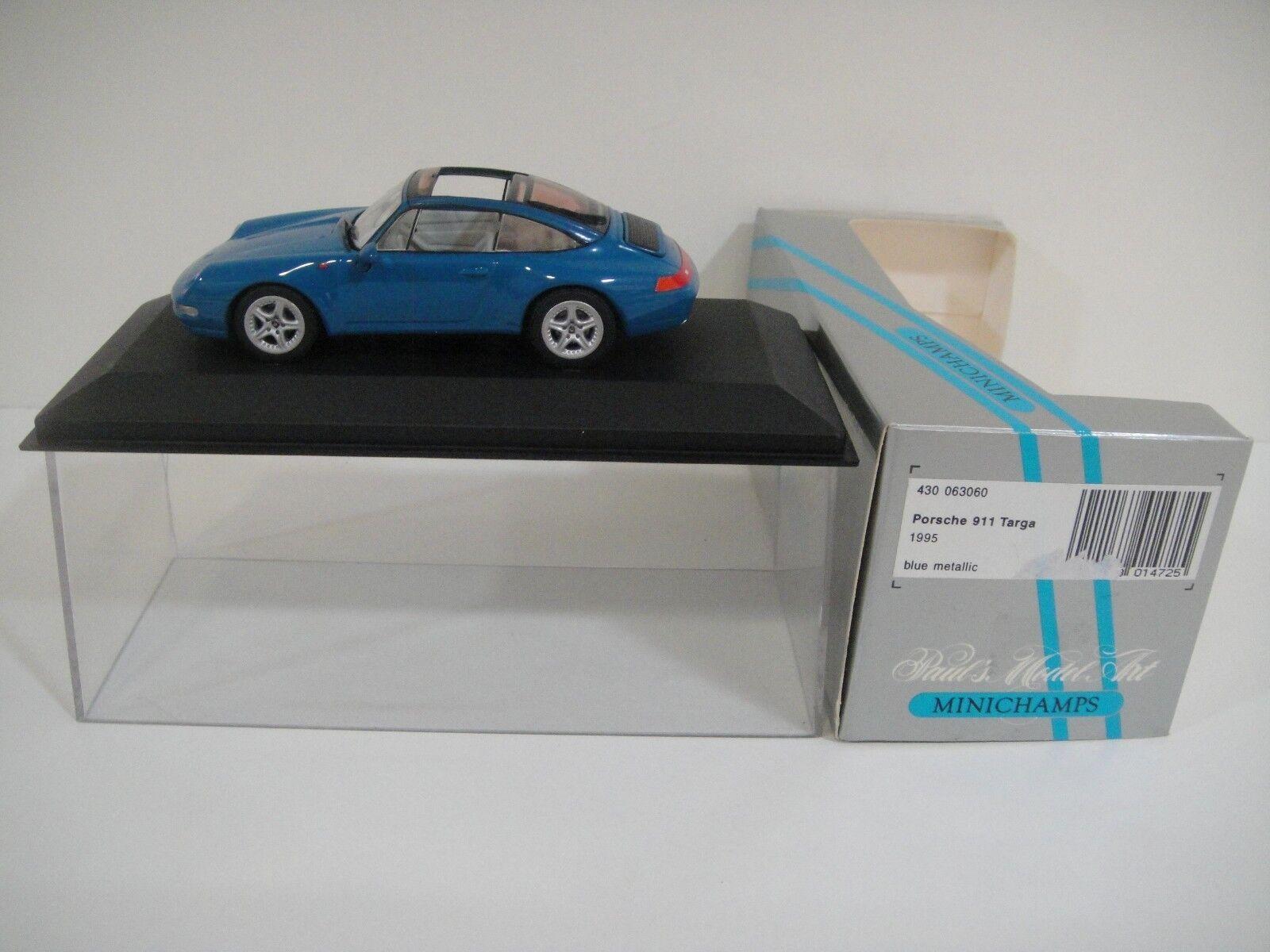 Precio por piso --1 43 MINICHAMPS. PORSCHE 911 TARGA 1995 azul Metallic. Metallic. Metallic.  alta calidad general