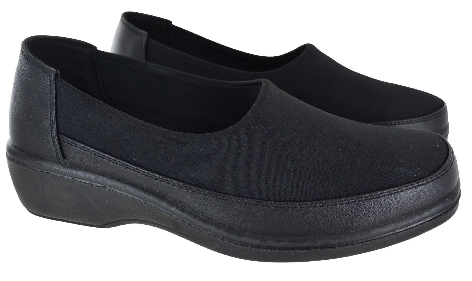 WOMENS LADIES WIDE FIT COMFORT CASUAL LOW HEEL FLAT WEDGE LOAFER SHOES SIZE 3-8
