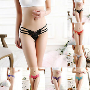 5cce93fb433 Image is loading Sexy-Women-Lace-Lingerie-Butterfly-Underwear-Knickers- Thongs-