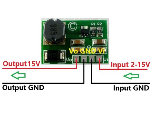 12W DC-DC Converter Boost 3.7V 5V 9V 12V to 15V Power Supply UPS Module Board