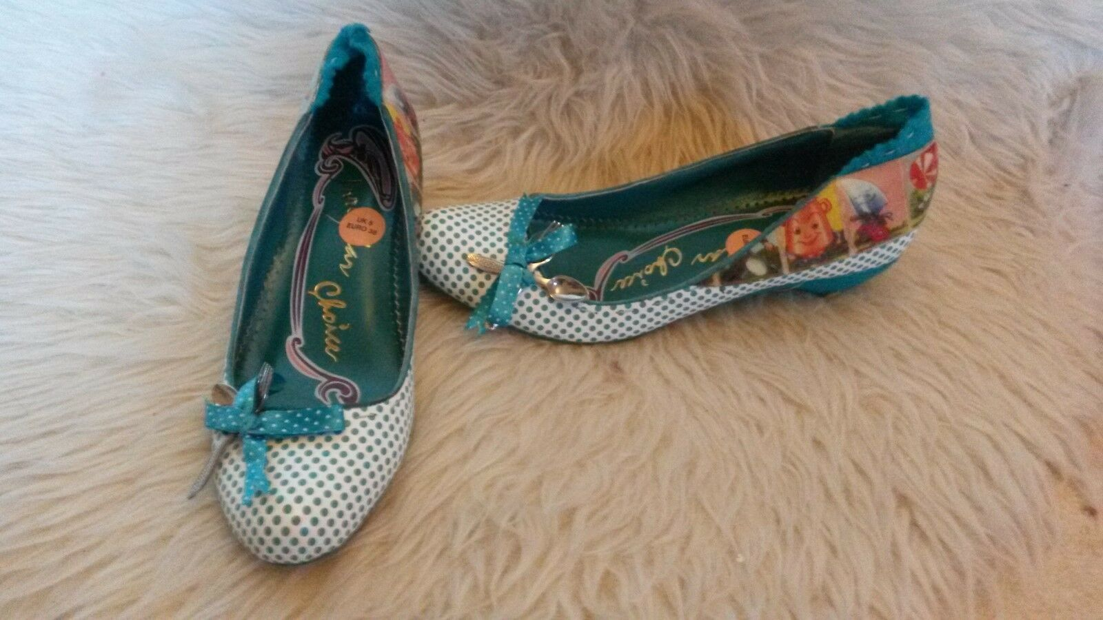 Ex Rare Irregular Choice 5 Nursery Rhyme Schuhes Uk 5 Choice EU 38- NEW 60b244
