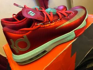 "5a7ab6d9bda Nike KD 6 Kevin Durant ""Christmas"" Size 8 Baketball Shoes"