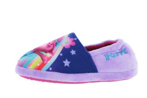 Girls DreamWorks Trolls Poppy Purple Elasticated Slipper UK Child Various Sizes