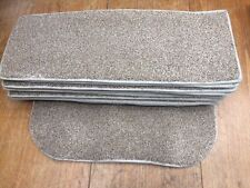BEIGE FLECK  12x STAIR PADS TWIST PILE CARPET +FREE MAT CONTRACT QUALITY #3101