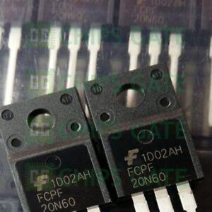 2PCS-FCPF20N60-MOSFET-N-CH-600V-20A-TO220F-Fairchild