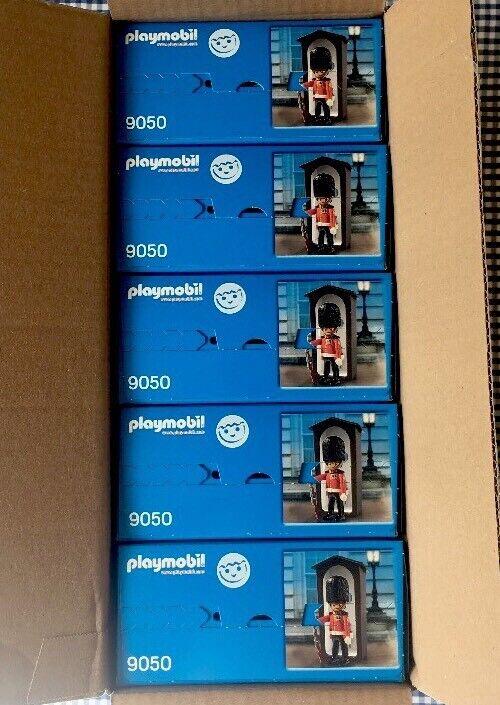 * Nouveau * X5 Playmobil 9050 Garde Royale & Sentry Box * Monarchie Britannique
