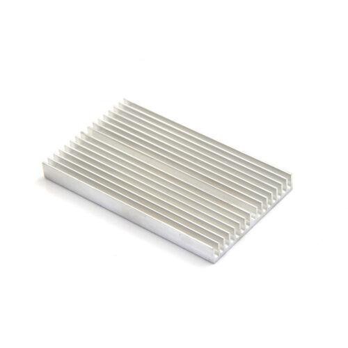 Silver Tone Aluminum Cooler Radiator Heat Sink Heatsink 100x60x10mm L qw
