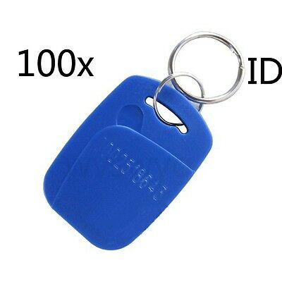 EM4100 100pcs 125KHz RFID ID Proximity Tag Token Keyfobs For Door Access control