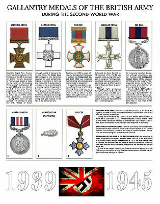 A4 Poster - Gallantry Medals of the British Army During the Second World War