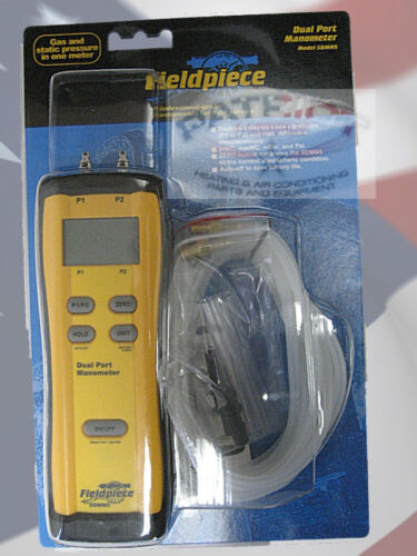 Fieldpiece SDMN5 Dual Port Manometer Gas Pressure Static Pressure /& Differential