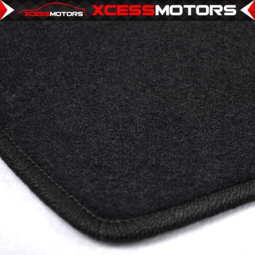 Fits 09-14 Hyundai Genesis Sedan Black Nylon Floor Mats Carpets Set
