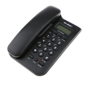 English-Corded-Phone-Landline-Wall-Mountable-Telephone-Redial-Function-Black