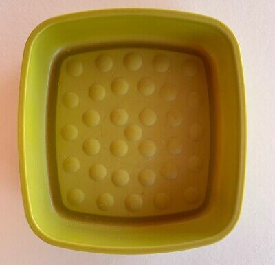 Vtg Tupperware Gadgets Soap Dish Scouring Pad Holder Green ...