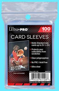 100-ULTRA-PRO-Soft-CARD-SLEEVES-NEW-No-PVC-Penny-Sleeve-Sports-Trading-Football