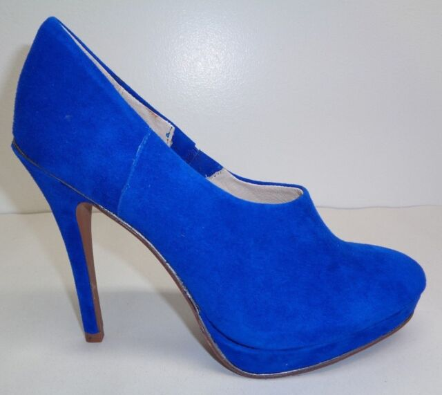 292ffc35631 Juicy Couture Size 6.5 M EYLSSA Electric Blue Suede Heels Pumps New Womens  Shoes