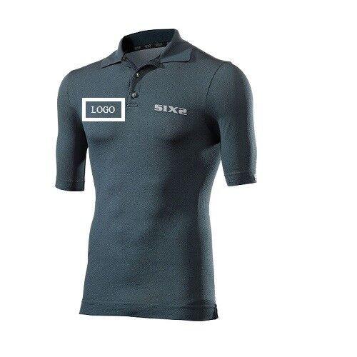 Polo Shirt Short sleeve t-shirt  Bike Bike logo pe. SIXS PETROLIO  POL S  online shopping