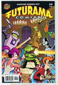 FUTURAMA-58-NM-Bongo-Fry-Bender-Leela-Professor-Farnsworth-more-in-store