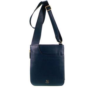 Leather Medium Body Cross Pocket Top Navy Blue Radley Bag Zip xwSpqISOB