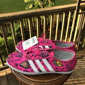 462ac05c752d NEW Size 8.5 Adidas Jeremy Scott P Sole Graphic Pink Plimsole M18994 ...