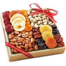 Dried Fruit Tray Gift Holidays Gourmet Food Basket Savory Nuts Pistachio Almonds