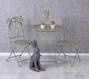 Sitzgarnitur-Garten-Stuehle-Tisch-Gartenset-Metall-Sitzgruppe-Balkonset-Essgruppe