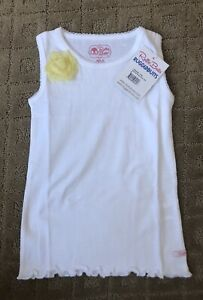 NWT-RUFFLEBUTTS-WHITE-Tank-Top-6-SHIRT-RUFFLE-NEW-Shirt-Summer-boutique-YELLOW